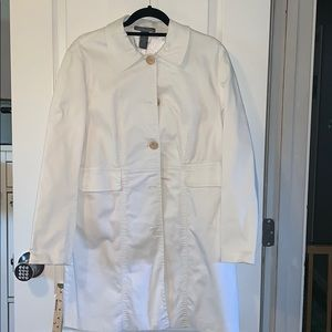 Hillyard and Hanson white overcoat or trench coat